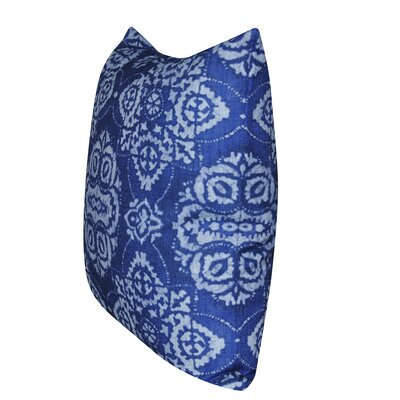 Batik Throw Pillow Color: Blue