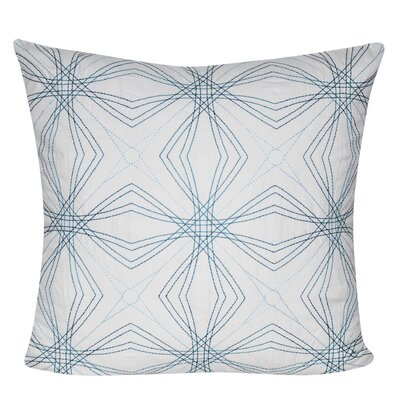 Optical Star Throw Pillow Color: Blue