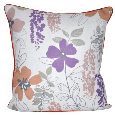 Sweet Daisies Throw Pillow Color: Purple