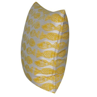 Fishes Indoor/Outdoor Throw Pillow Color: Yellow