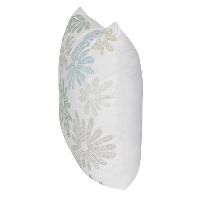Tossed Daisy Throw Pillow Color: Multi