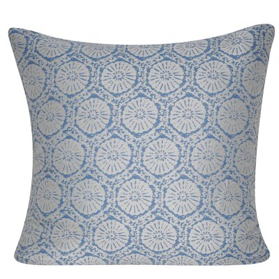 Stamped Indoor/Outdoor Throw Pillow Color: Light Blue