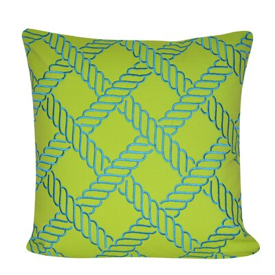 Ropes Throw Pillow Color: Chartreuse