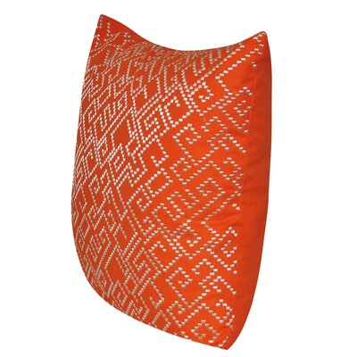 Geo Maze Throw Pillow Color: Orange