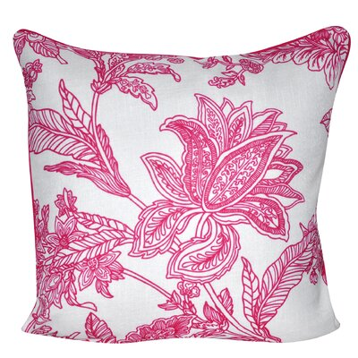 Indian Flower Throw Pillow Color: Dark Pink