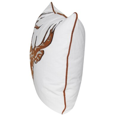 Stag Throw Pillow Color: Rust