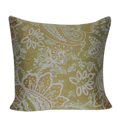 Paisley Throw Pillow Color: Olive