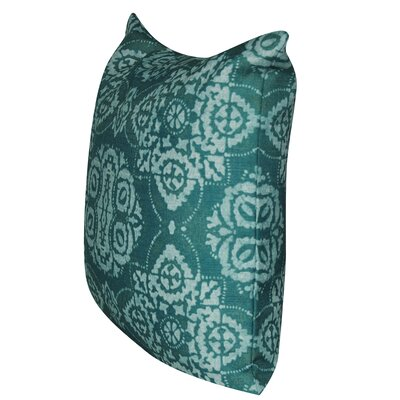 Batik Throw Pillow Color: Teal
