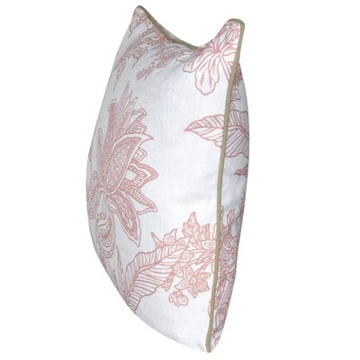 Indian Flower Throw Pillow Color: Light Pink