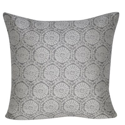 Stamped Indoor/Outdoor Throw Pillow Color: Gray