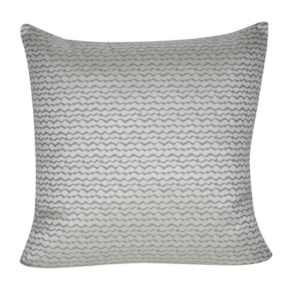 ZigZag Indoor/Outdoor Throw Pillow Color: Gray