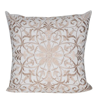 Baroque Floral 100% Cotton Throw Pillow Color: Tan