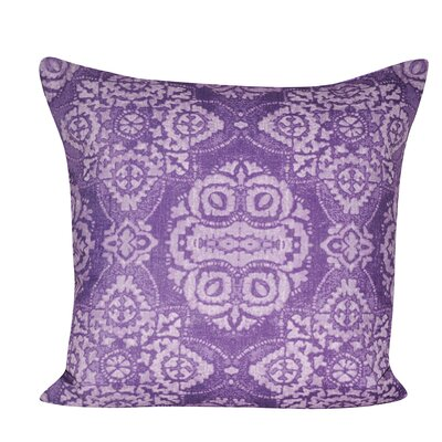 Batik Throw Pillow Color: Purple
