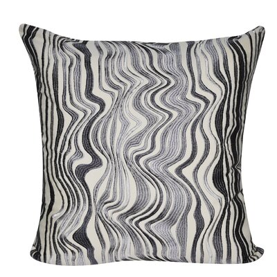 Marble Throw Pillow Color: Charcoal