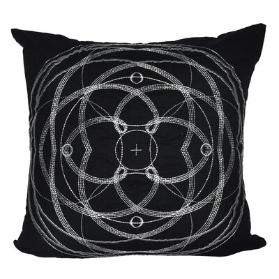 Celestial Throw Pillow Color: Black