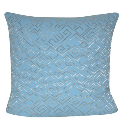 Geo Maze Throw Pillow Color: Light Blue
