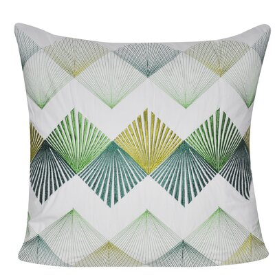 String Theory Throw Pillow Color: Green