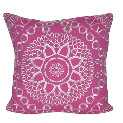 Sun Geo Throw Pillow Color: Pink