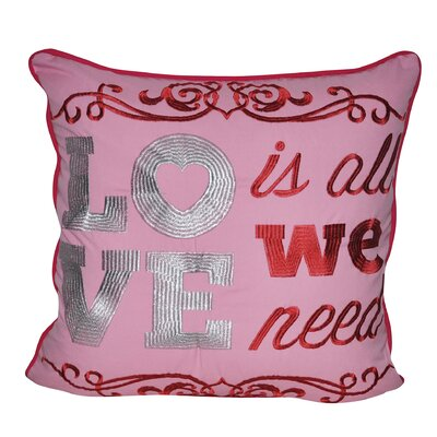 Love Throw Pillow Color: Pink