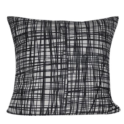 Woven Stripes Decorative Throw Pillow Color: Black