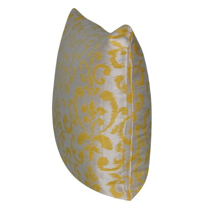 Damask Indoor/Outdoor Throw Pillow Color: Yellow