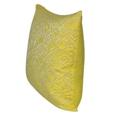 Geo Maze Throw Pillow Color: Yellow
