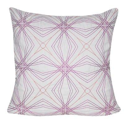 Optical Star Throw Pillow Color: Pink