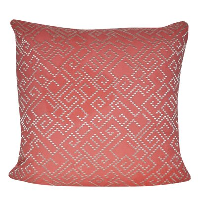 Geo Maze Throw Pillow Color: Coral