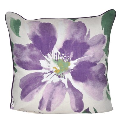 Super Flower 100% Polyester Throw Pillow Color: Purple