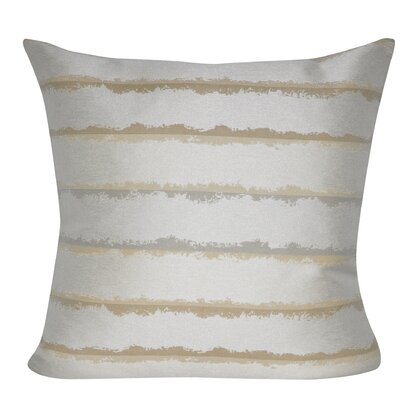 Hazy Stripes Indoor/Outdoor Throw Pillow Color: Taupe