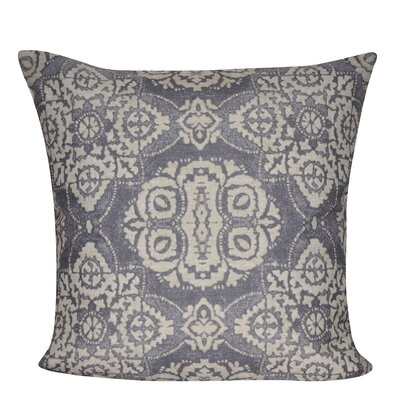 Batik Throw Pillow Color: Gray