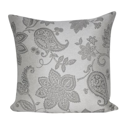 Paisley Flower Indoor/Outdoor Throw Pillow Color: Gray