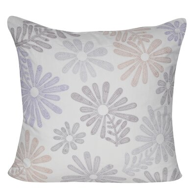 Tossed Daisy Throw Pillow Color: Purple
