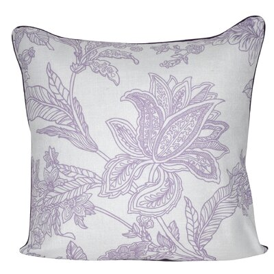 Indian Flower Throw Pillow Color: Lavender