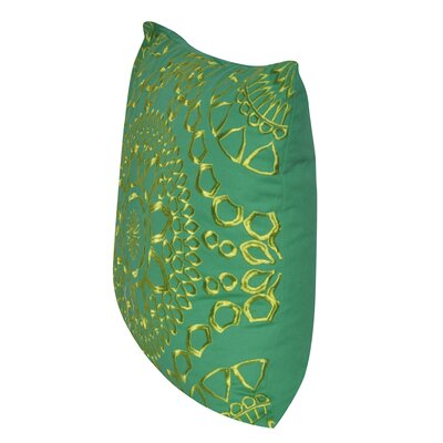 Sun Geo Throw Pillow Color: Green