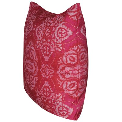 Batik Throw Pillow Color: Dark Pink