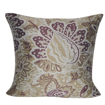 Paisley Throw Pillow Color: Tan