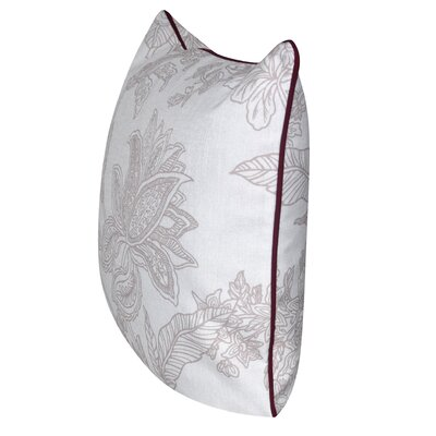 Indian Flower Throw Pillow Color: Taupe