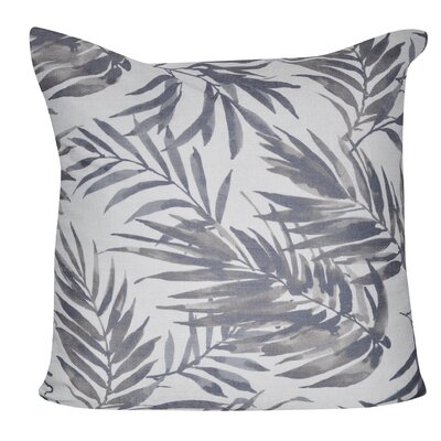 Tropical Leaf 100% Polyester Throw Pillow Color: Gray