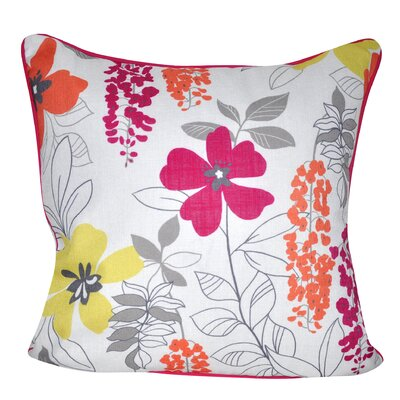 Sweet Daisies Throw Pillow Color: Dark Pink