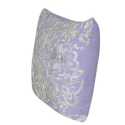 Paisley Flower Throw Pillow Color: Lavender