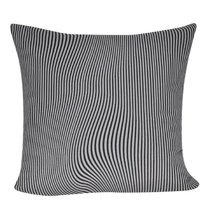 Illusion Stripes Throw Pillow