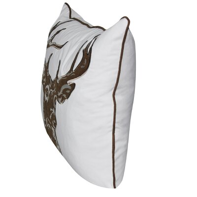 Stag Throw Pillow Color: Chocolate