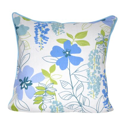 Sweet Daisies Throw Pillow Color: Blue