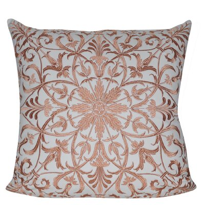 Baroque Floral 100% Cotton Throw Pillow Color: Dark Brown