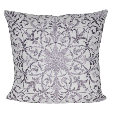 Baroque Floral Throw Pillow Color: Lavender