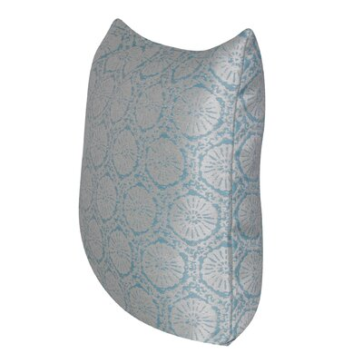 Stamped Indoor/Outdoor Throw Pillow Color: Blue