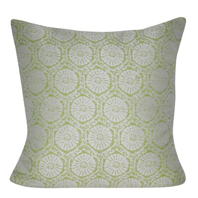 Stamped Indoor/Outdoor Throw Pillow Color: Light Green