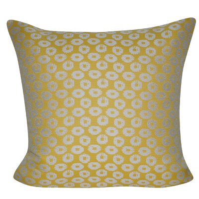 Circles Indoor/Outdoor Throw Pillow Color: Yellow