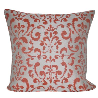 Damask Indoor/Outdoor Throw Pillow Color: Coral